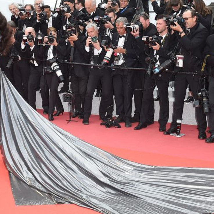 Winnie Harlow Dazzles Cannes Crowd In A Silver Dress By Lebanese Designer