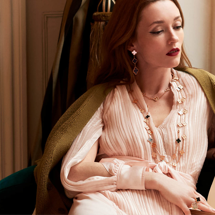 Van Cleef & Arpels Reveals 50th Anniversary Alhambra Jewels