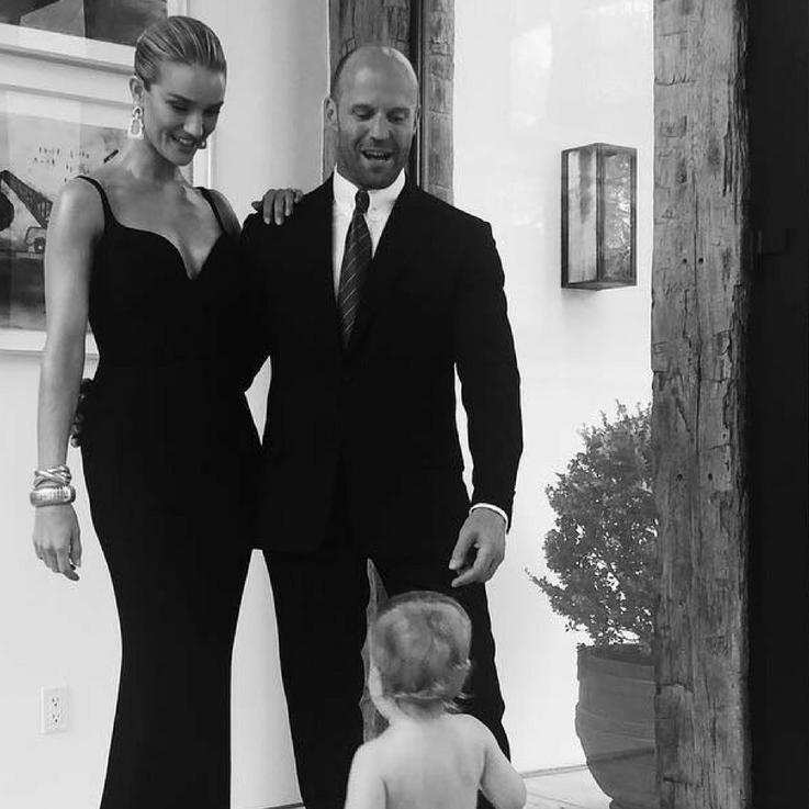 Rosie Huntington-Whiteley Shares Rare Family Photo Ahead Of Husband's Movie Premiere