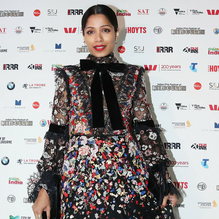 Freida Pinto Just Wore This Lebanese Designer For The Second Time In A Month