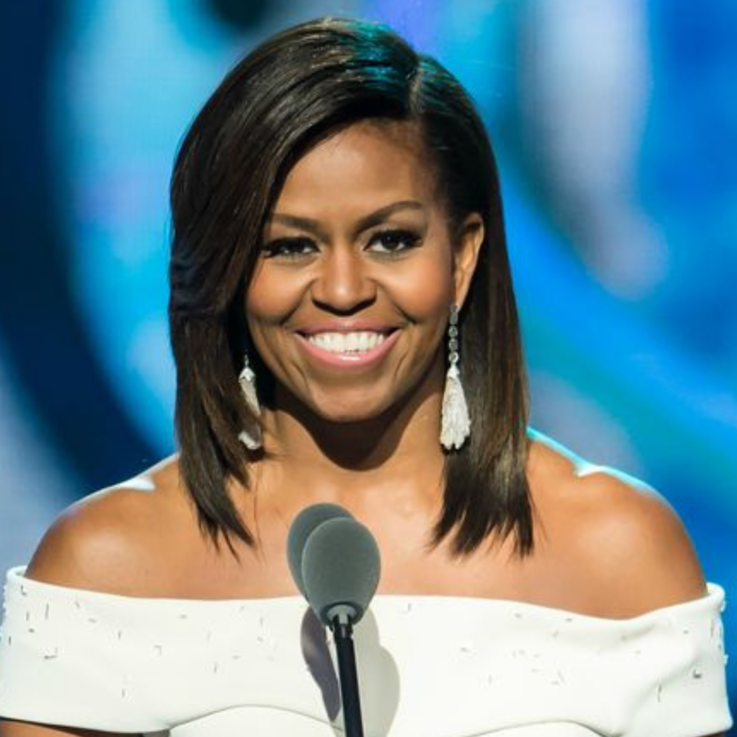Michelle Obama Serves Us An Iconic Pantsuit Look From A Regional Designer