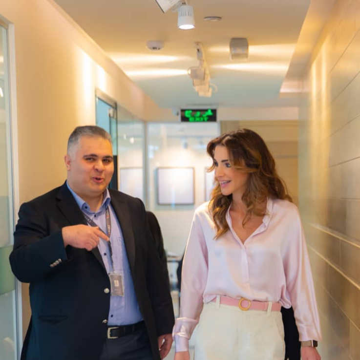 Queen Rania Is Pastel Perfection Whilst On Royal Duties In Jordan
