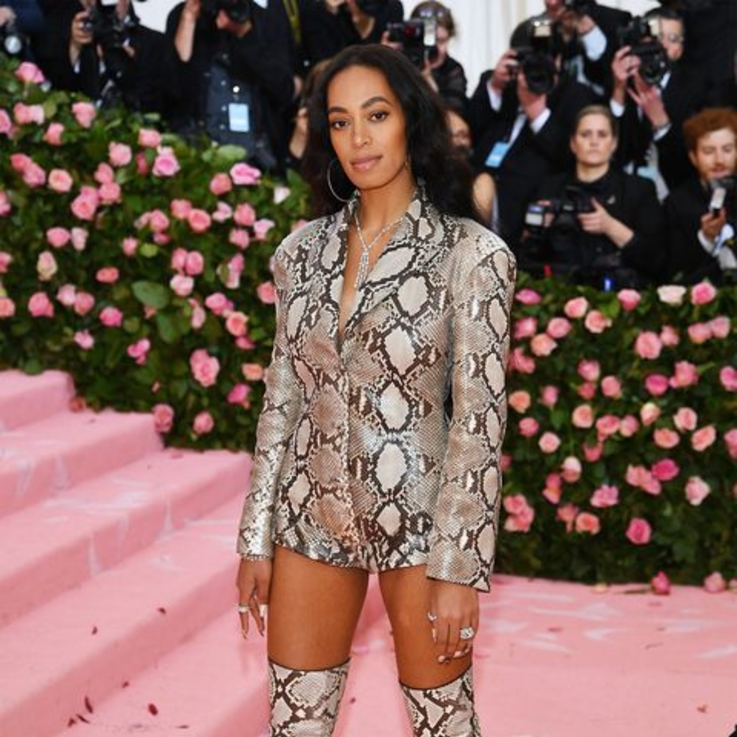 Exclusive: Inside The Making Of Solange Knowles' Python Print Perfection Met Gala Outfit