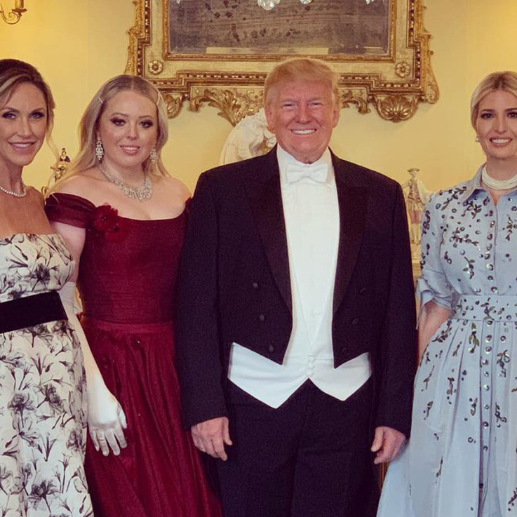 All the Details You Need To Know About Tiffany Trump's Gowns During Her Three-Day US State Visit To The UK