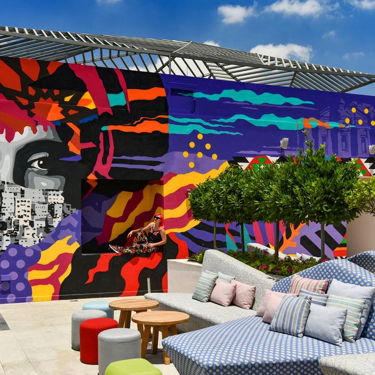 W Amman Unveils Mural Art By Dubai-Based Artist Dina Saadi