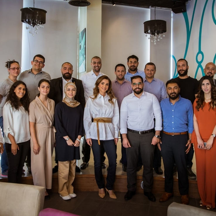 Queen Rania Of Jordan Continues To Inspire As She Meets With A Group Of Young Jordanian Entrepreneurs