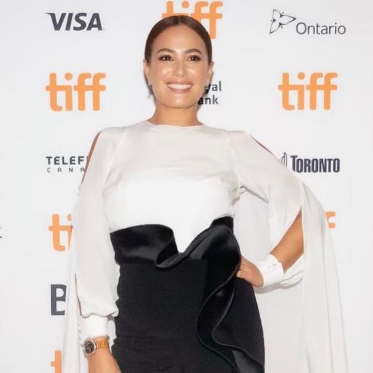 Hend Sabry Looks Effortlessly Chic Sporting This Lebanese Designer At TIFF