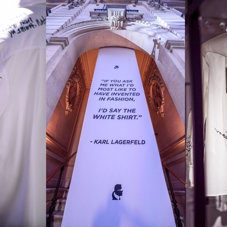The White Shirt Project: A Tribute To Karl Lagerfeld
