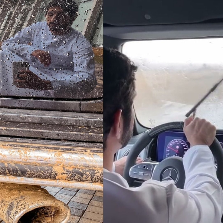 Sheikh Hamdan Went Cruising In The Dubai Rain Today