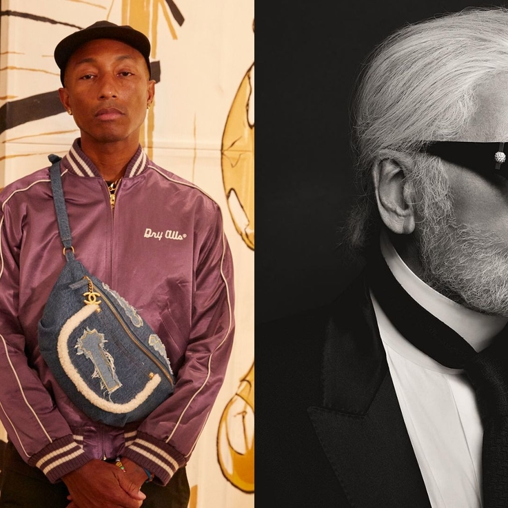 Exclusive: Pharrell Williams Tells Us A Secret About Karl Lagerfeld