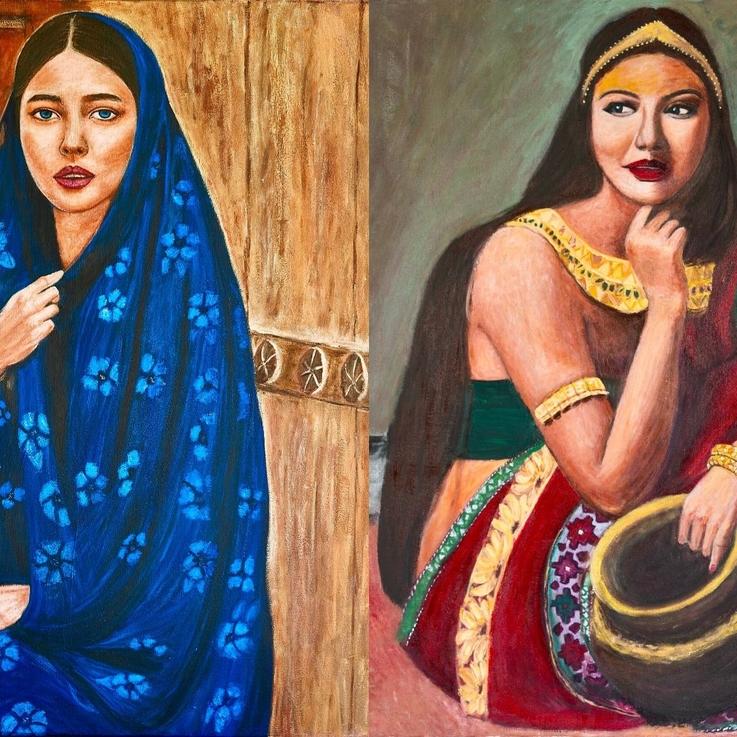 Egyptian Artist Hayam Elsayed Unravels Tales Through Her Vivid Portraits