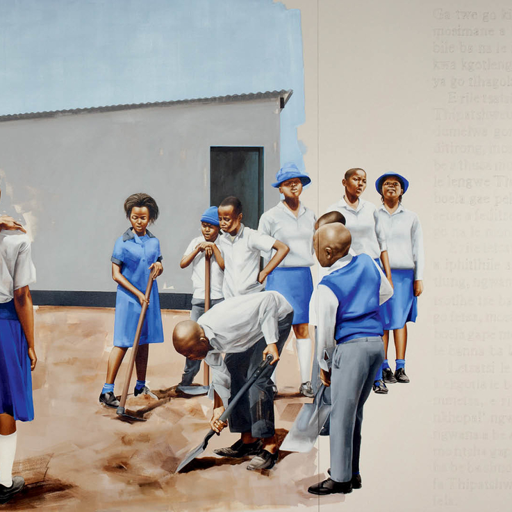 Artist Meleko Mokgosi's Latest Paintings Capture Marvellous Moments