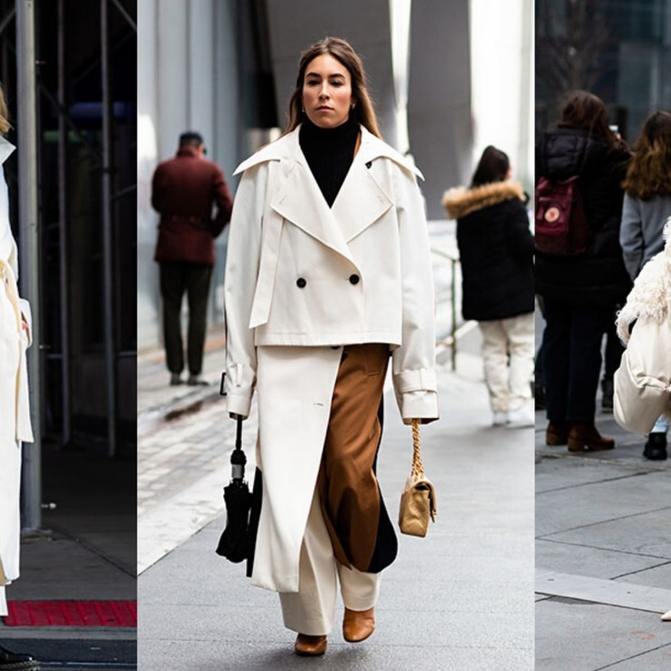 Fashion Week Street Style: Winter Whites