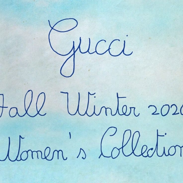 Watch | Livestream Gucci Autumn/Winter 2020 Show