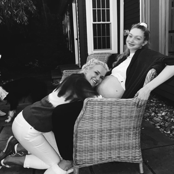 """Gigi And Yolanda Hadid Are """"Patiently"""" Waiting For Her Little Angel To Arrive"""