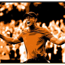 Arkham Creative's Depiction Of Tiger Woods Joins The Abu Dhabi Dream Ball Auction