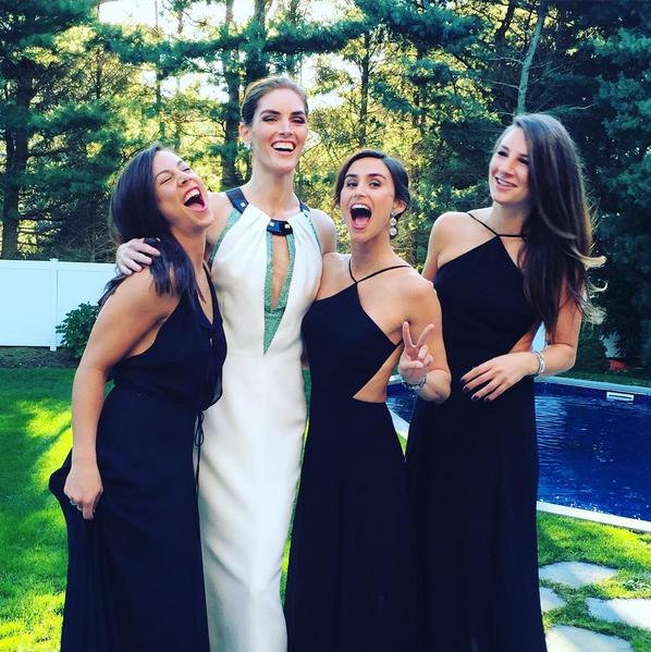 Hilary Rhoda Marries Wearing Carolina Herrera