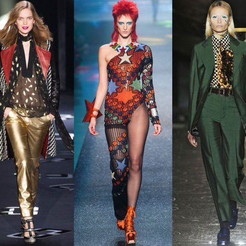 Bowie-Inspired Catwalk Fashion And Beauty