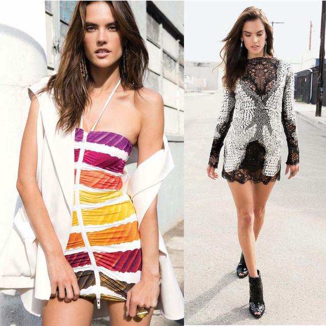 Victoria's Secret Model Alessandra Ambrosio Lands In Dubai for DSF