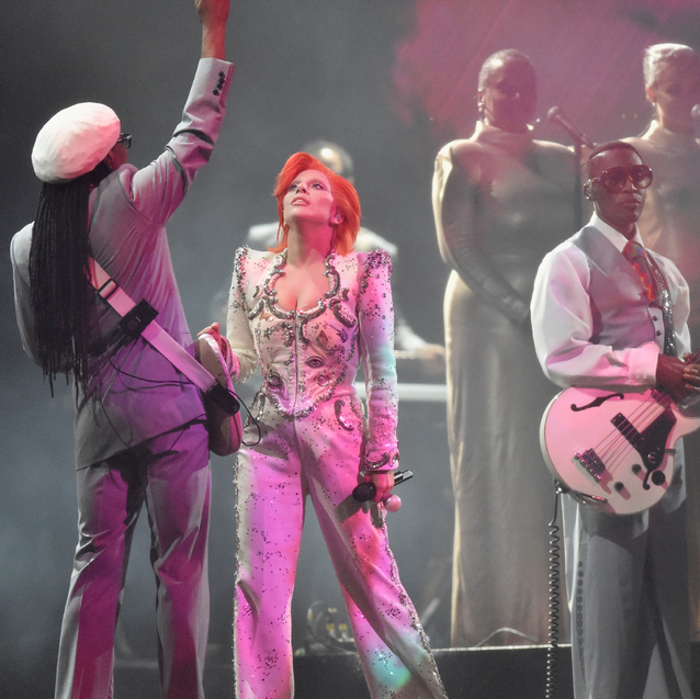 Watch Now: Lady Gaga's Tribute To David Bowie At The 2016 Grammys