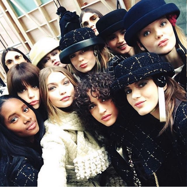 The Best Instagrams From Chanel's #FrontRowOnly A/W16 Show