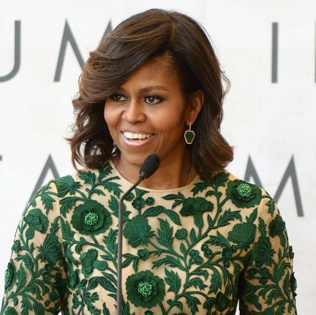 """Girl Power: Michelle Obama says """"Tell your daughters it's okay to be bossy"""""""