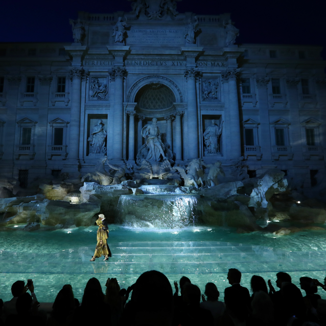 Go Behind-The-Scenes At Fendi's 90th Anniversary Show At The Trevi Fountain
