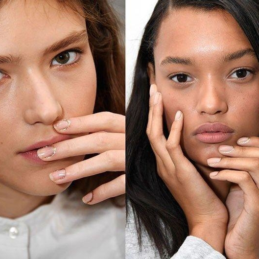 The Glitter Cuticles At Rodarte Were All Kinds Of Fabulous