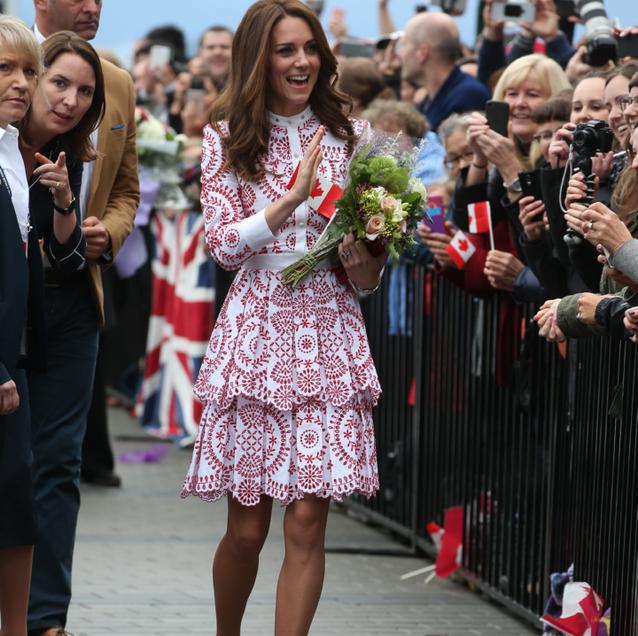 Kate Middleton Opts For Patriotic Elegance In Alexander McQueen