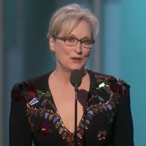 Meryl Streep's Iconic Golden Globes Acceptance Speech