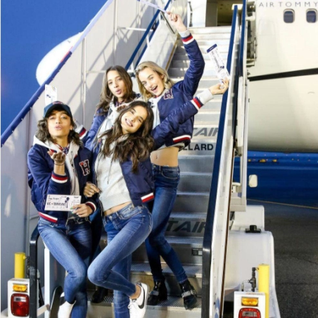 """""""Tommy Air"""" Flew The Tommy x Gigi Models To Los Angeles"""