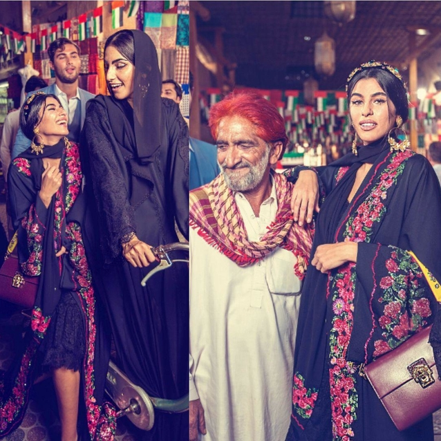 Dolce & Gabbana Shoot New Abaya Campaign In Dubai