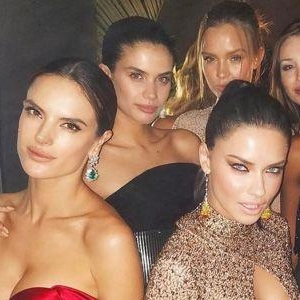 There Was A Victoria's Secret Reunion At The Oscars Afterparty