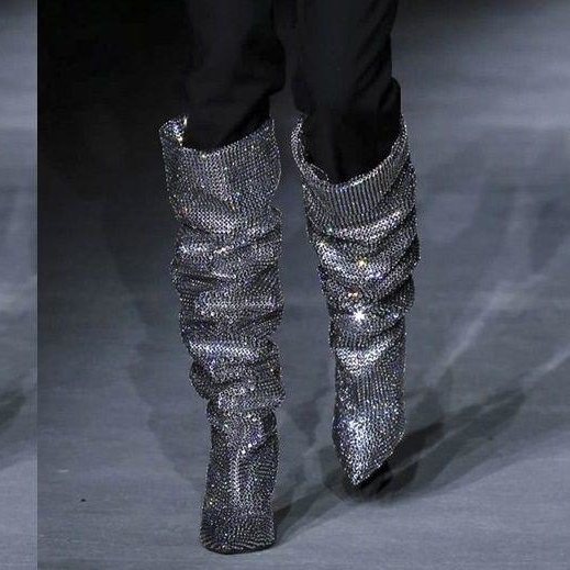 The Saint Laurent Rhinestone Boots Reportedly Already Have A Huge Waiting List