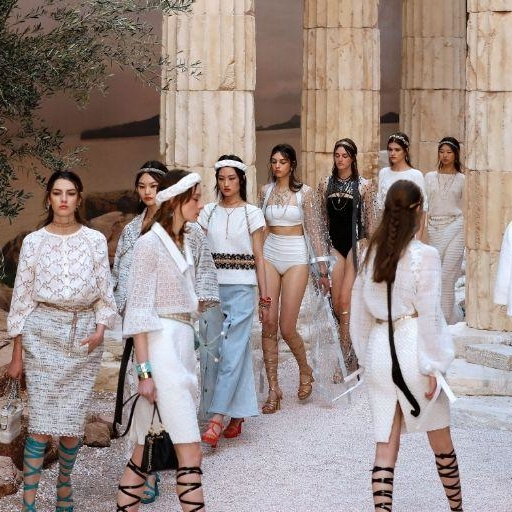 Karl Lagerfeld Brought Ancient Greece To Paris For Chanel's Cruise 2018 Show