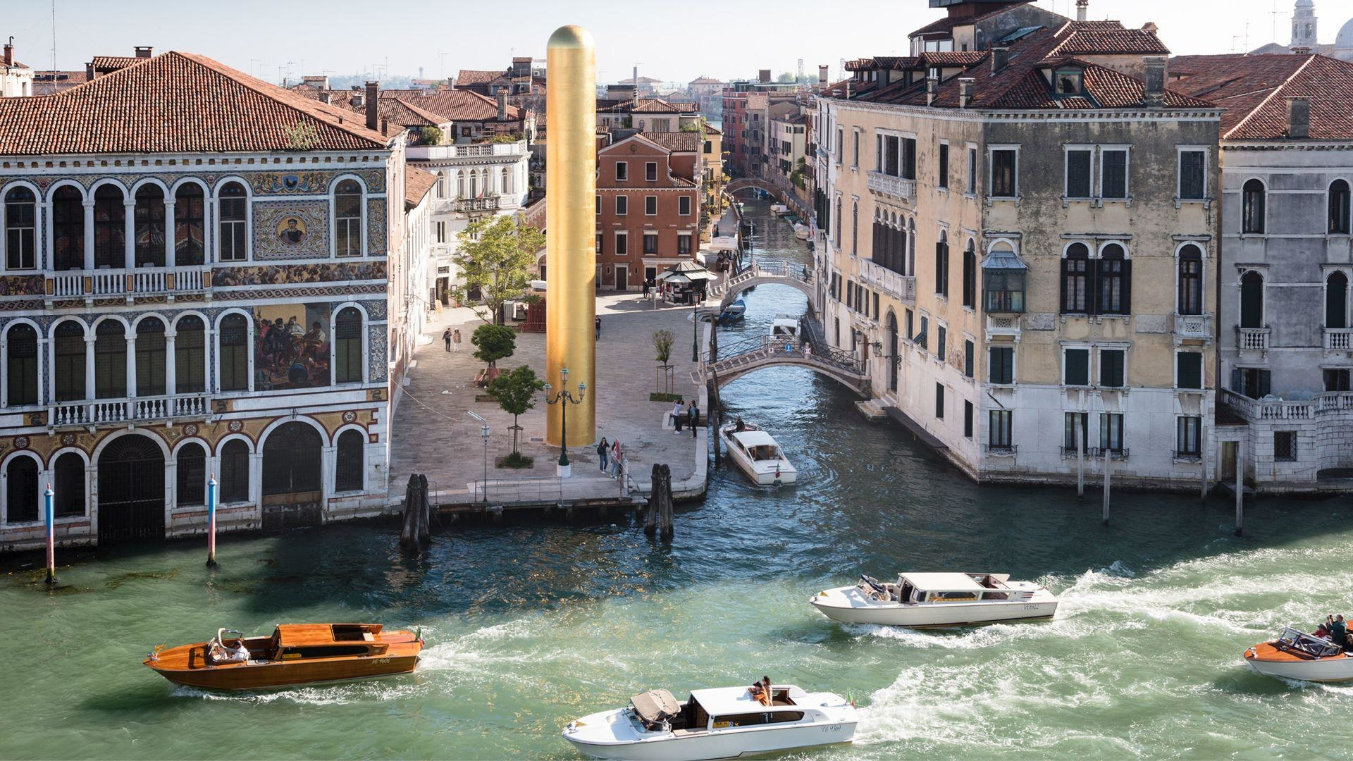 James Lee Byars' The Golden Tower Finally Realised In Venice