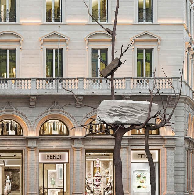 Fendi Pays Tribute To Rome With Sculpture By Giuseppe Penone