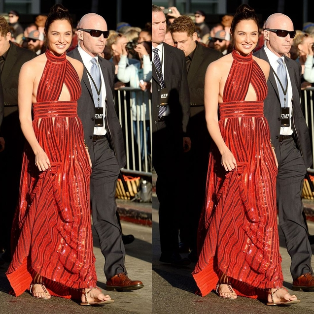 Gal Gadot Wore Dhs180 Flats To The Wonder Woman Premiere