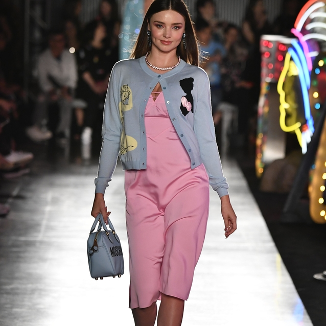 Miranda Kerr Made Her Runway Return For Moschino Resort 2018