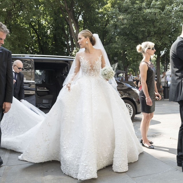 Victoria Swarovski Weds In A Michael Cinco Gown