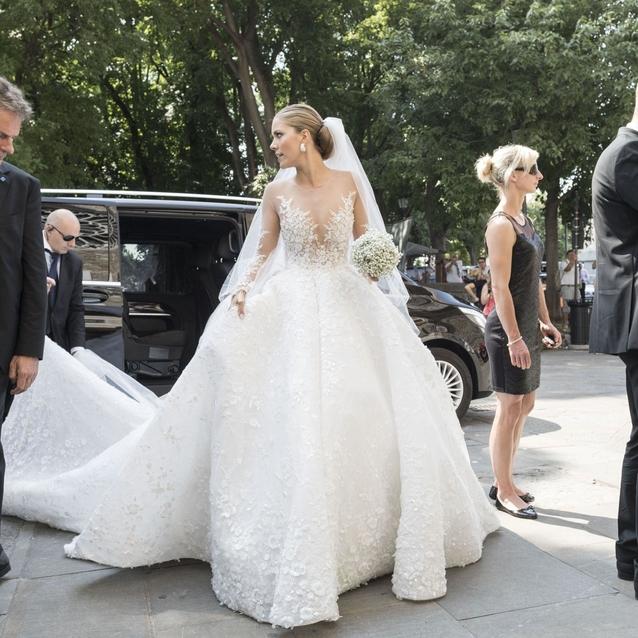 Victoria Swarovski Weds In A Michael Cinco Gown