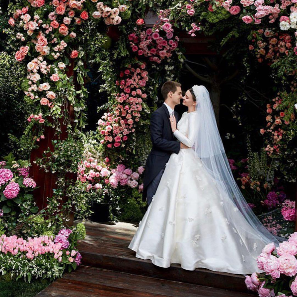 Miranda Kerr Shares First Pictures Of Her Dreamy Dior Couture Wedding Gown