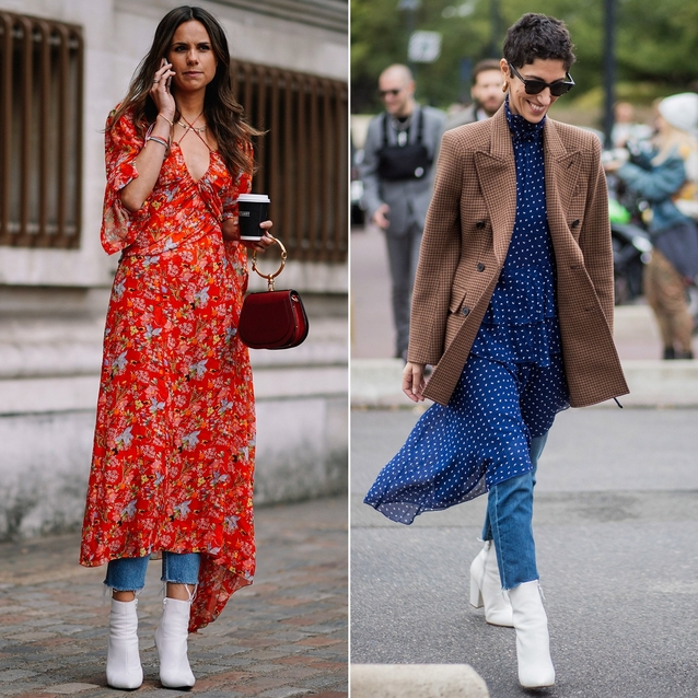 10 Pictures That Will Convince You To Pair A Dress With Jeans