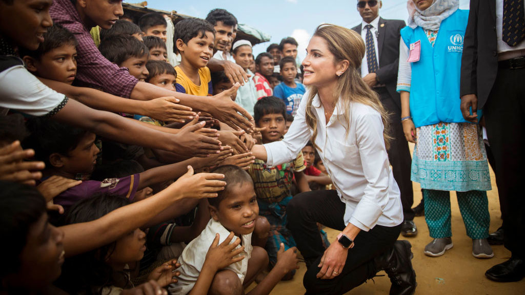 "Queen Rania Speaks Out About ""Unimaginable"" Treatment Of Rohingya Refugees"