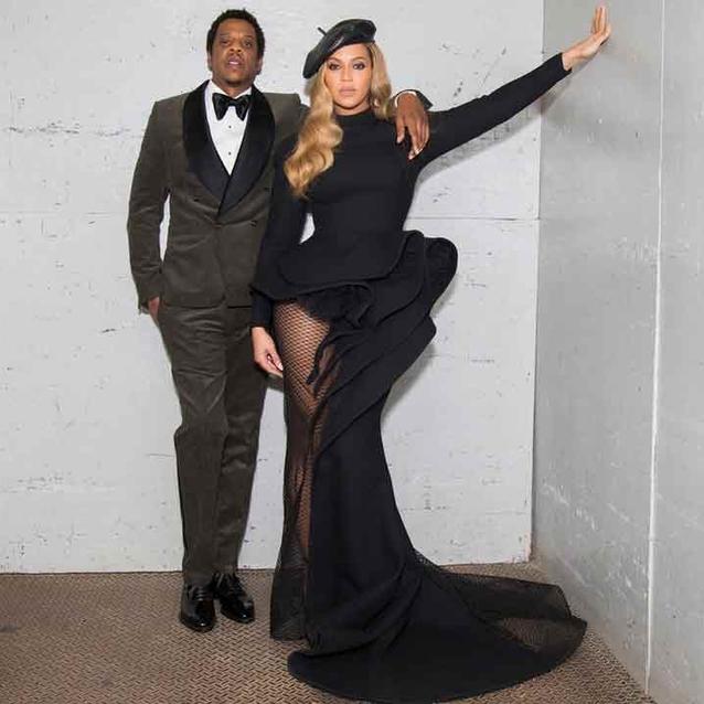 Beyoncé Wears Azzi & Osta To The Annual Clive Davis Pre-Grammy Party