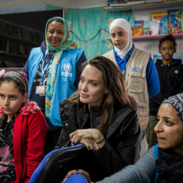 Angelina Jolie Visits Refugees In Jordan With Her Two Daughters