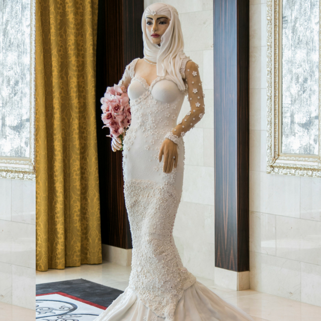 This Is What A Million Dollar Arab Bride-Shaped Wedding Cake Looks Like