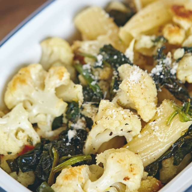 #DaliasKitchen |How to Make Nutritious Roasted Cauliflower and Spinach Pasta