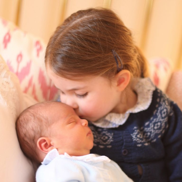 Princess Charlotte Kisses Baby Brother Prince Louis in New Photos from the Royal Family