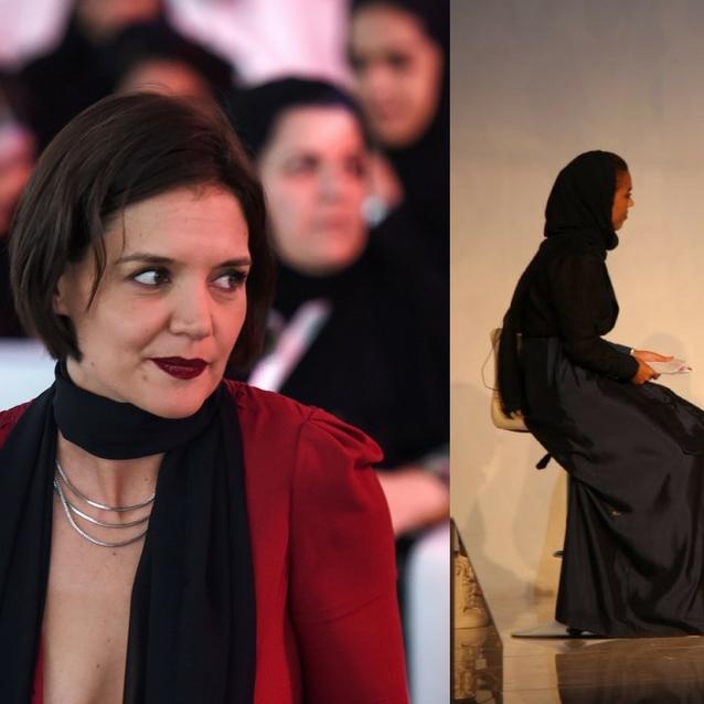Katie Holmes And Idris Elba Visit Saudi Arabia For Launch Of $34.7 Billion Entertainment Campaign